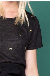 T-Shirt T-Shirt MARCIA Femme W19123W (47670) - DEELUXE