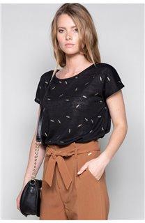 T-Shirt T-Shirt PLUME Femme W19124W (47676) - DEELUXE