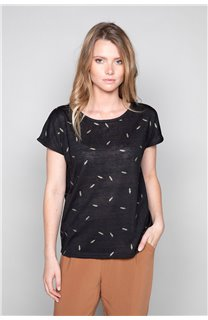T-Shirt T-Shirt PLUME Femme W19124W (47678) - DEELUXE
