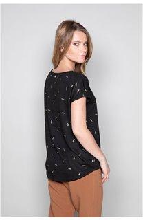 T-Shirt T-Shirt PLUME Femme W19124W (47679) - DEELUXE