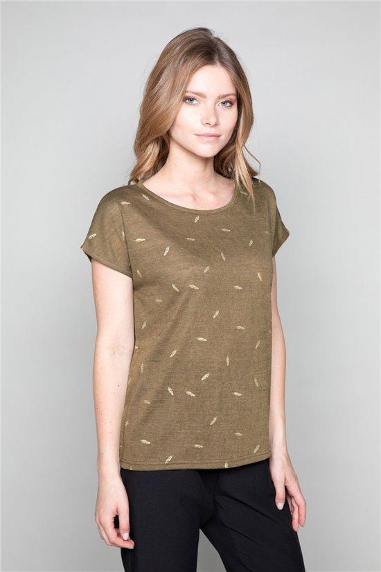 T-Shirt PLUME Femme W19124W (47681) - DEELUXE