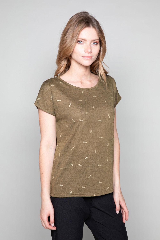 T-Shirt T-Shirt PLUME Femme W19124W (47681) - DEELUXE