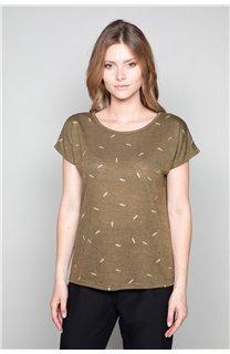 T-Shirt T-Shirt PLUME Femme W19124W (47683) - DEELUXE