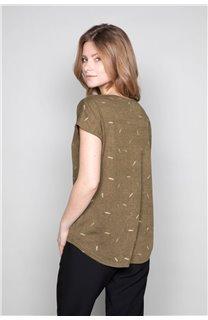 T-Shirt T-Shirt PLUME Femme W19124W (47684) - DEELUXE