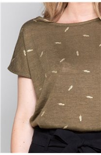 T-Shirt T-Shirt PLUME Femme W19124W (47685) - DEELUXE