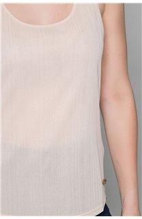 Débardeur T-SHIRT SHINY Femme W19174W (47695) - DEELUXE