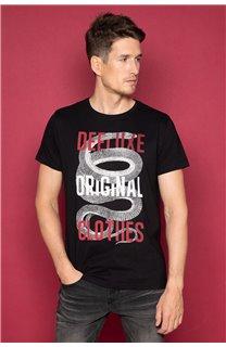 T-Shirt T-SHIRT SNAKE Homme W19120 (47834) - DEELUXE