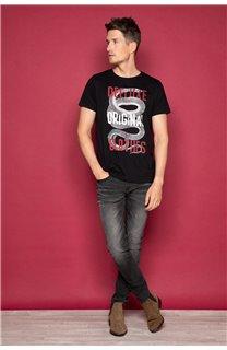 T-Shirt T-SHIRT SNAKE Homme W19120 (47835) - DEELUXE