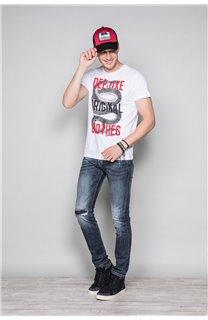 T-Shirt T-SHIRT SNAKE Homme W19120 (47840) - DEELUXE