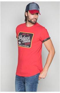 T-Shirt T-SHIRT VERNON Homme W19116 (47848) - DEELUXE