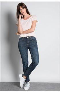 T-Shirt T-SHIRT GLITTER Femme W19118W (47893) - DEELUXE
