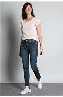 T-Shirt T-SHIRT GLITTER Femme W19118W (47894) - DEELUXE