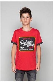 T-Shirt VERNON Garçon W19116B (48293) - DEELUXE