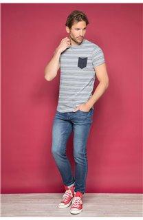 T-Shirt T-SHIRT ADKINS Homme W19121 (48304) - DEELUXE
