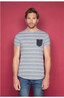 T-Shirt T-SHIRT ADKINS Homme W19121 (48305) - DEELUXE