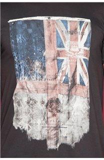 T-Shirt T-SHIRT FLAGY Garçon W18160B (48358) - DEELUXE