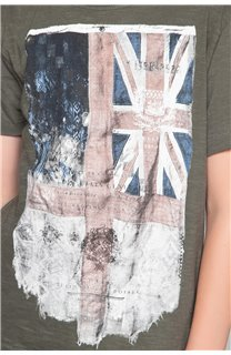 T-Shirt T-SHIRT FLAGY Garçon W18160B (48359) - DEELUXE