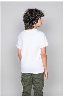 T-Shirt LEON Garçon W19131B (48631) - DEELUXE