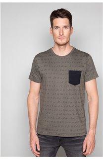 T-Shirt T-SHIRT SCRIPTY Homme W191106 (48680) - DEELUXE