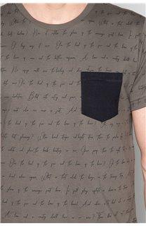 T-Shirt T-SHIRT SCRIPTY Homme W191106 (48682) - DEELUXE