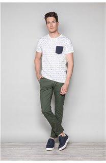 T-Shirt T-SHIRT SCRIPTY Homme W191106 (48684) - DEELUXE