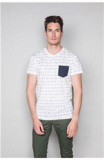 T-Shirt T-SHIRT SCRIPTY Homme W191106 (48685) - DEELUXE