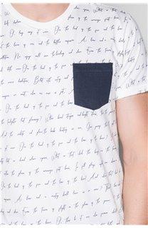 T-Shirt T-SHIRT SCRIPTY Homme W191106 (48687) - DEELUXE
