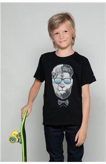 T-Shirt LIONMAN Garçon W19135B (48703) - DEELUXE