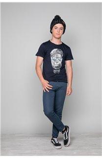T-Shirt LIONMAN Garçon W19135B (48709) - DEELUXE