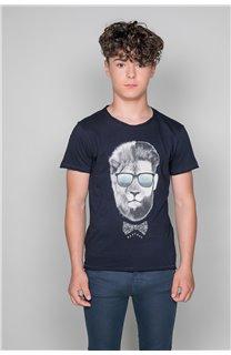 T-Shirt LIONMAN Garçon W19135B (48710) - DEELUXE