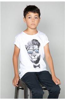T-Shirt LIONMAN Garçon W19135B (48713) - DEELUXE