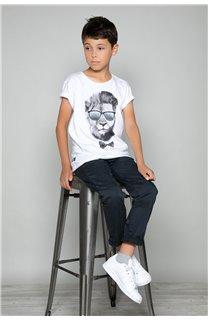 T-Shirt LIONMAN Garçon W19135B (48714) - DEELUXE