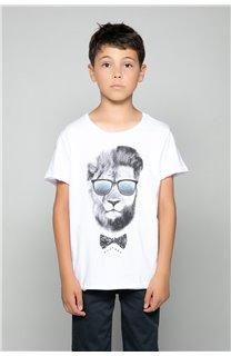 T-Shirt LIONMAN Garçon W19135B (48715) - DEELUXE