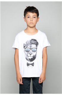 T-Shirt LIONMAN Garçon W19135B (48717) - DEELUXE