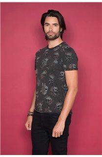 T-Shirt T-SHIRT FLOSKULL Homme W19105 (48792) - DEELUXE