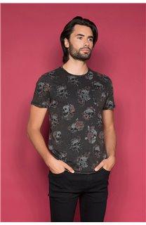T-Shirt T-SHIRT FLOSKULL Homme W19105 (48794) - DEELUXE