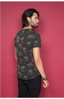 T-Shirt T-SHIRT FLOSKULL Homme W19105 (48795) - DEELUXE