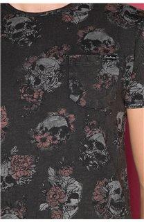 T-Shirt T-SHIRT FLOSKULL Homme W19105 (48796) - DEELUXE