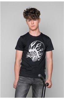 T-Shirt MOTORTIGER Garçon W19132B (48797) - DEELUXE