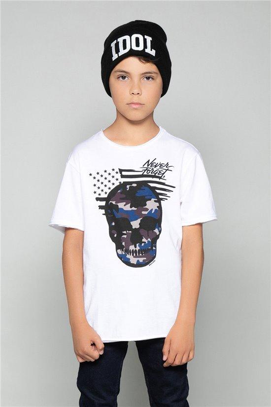 T-Shirt T-Shirt SKULLMAN Garçon W19134B (48802) - DEELUXE