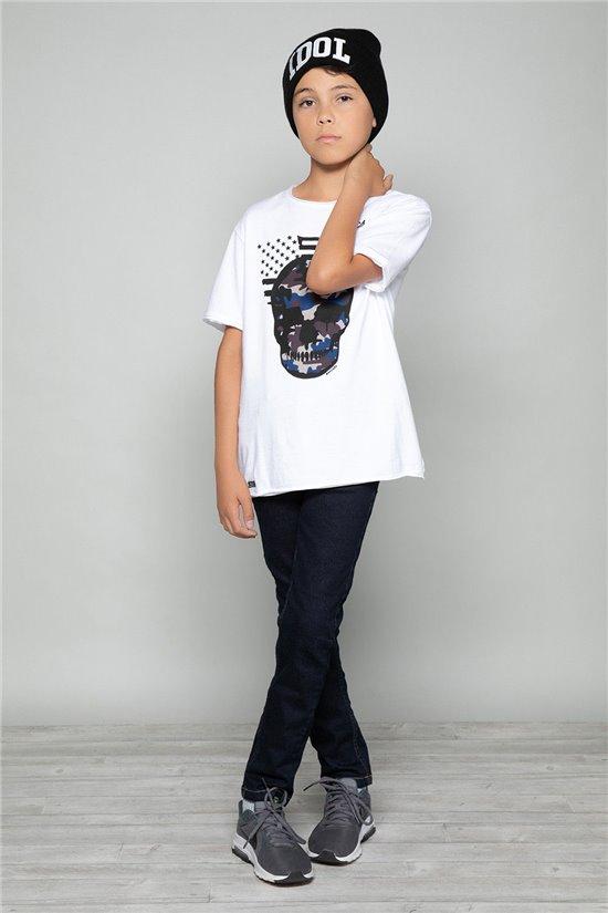 T-Shirt SKULLMAN Garçon W19134B (48802) - DEELUXE