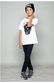 T-Shirt T-Shirt SKULLMAN Garçon W19134B (48803) - DEELUXE