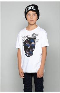 T-Shirt T-Shirt SKULLMAN Garçon W19134B (48804) - DEELUXE
