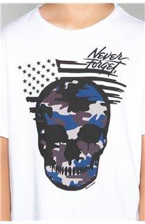 T-Shirt T-Shirt SKULLMAN Garçon W19134B (48806) - DEELUXE
