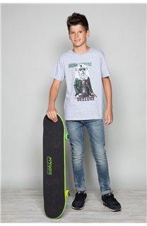 T-Shirt T-Shirt CLASSY Garçon W19155B (48808) - DEELUXE