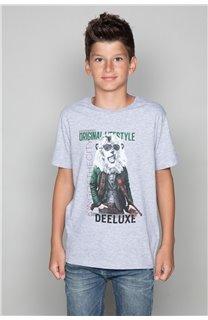 T-Shirt T-Shirt CLASSY Garçon W19155B (48809) - DEELUXE