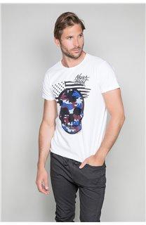 T-Shirt T-SHIRT SKULLMAN Homme W19134 (48837) - DEELUXE