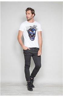 T-Shirt T-SHIRT SKULLMAN Homme W19134 (48838) - DEELUXE