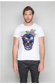 T-Shirt T-SHIRT SKULLMAN Homme W19134 (48839) - DEELUXE