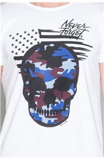 T-Shirt T-SHIRT SKULLMAN Homme W19134 (48841) - DEELUXE